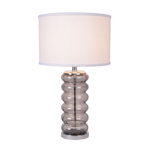 Hannah Smoked Gray Glass One-Light Accent Table Lamp
