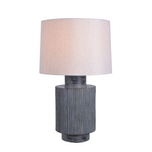 Charlie Distressed Cool Gray One-Light Accent Table Lamp