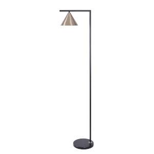 Peek Antique Brass One-Light Shaded Floor Lamp
