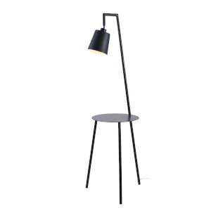 Obsidian Black One-Light Shaded Floor Lamp