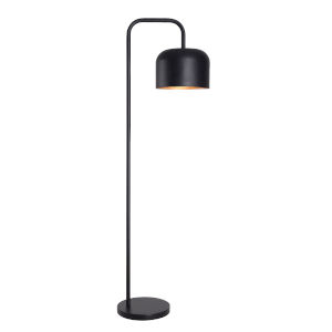 Porter Black and Gold Shade Interior One-Light Shaded Floor Lamp