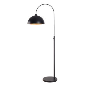 Dimitri Black One-Light Shaded Floor Lamp