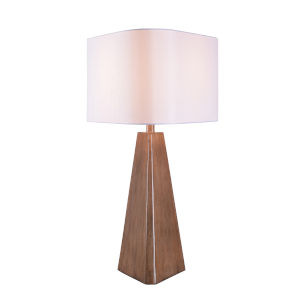 Tribune Wood Grain One-Light Shaded Table Lamp