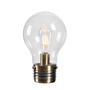 Mini Edison Antique Brass One-Light Shaded Table Lamp