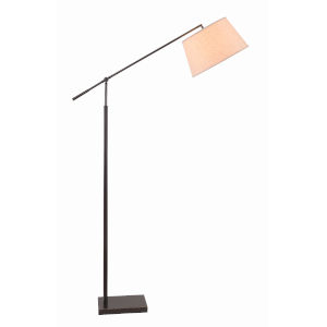 Everett Oil Rubbed Bronze One-Light Adjustable Arm Floor Lamp
