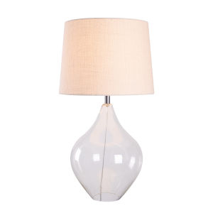 Priscilla Clear Glass and Chrome 16-Inch One-Light Shaded Table Lamp
