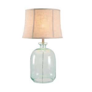 Sydney Aqua Tinted Glass One-Light Shaded Table Lamp