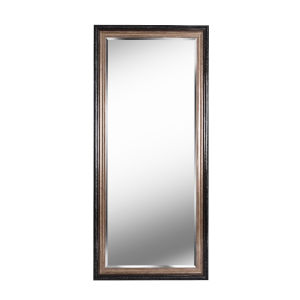 Lyonesse Destressed Black and Antique Gold Full Length Mirror