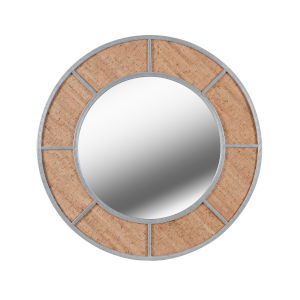 Compass Galvanized and Cork Wall Mirror