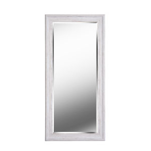 Warren Distressed White Wood Full Length Mirror