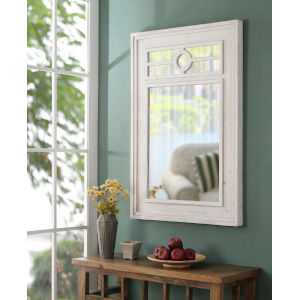 Waldorf Distressed White Wall Mirror
