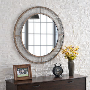 Grover Weathered Brown 34-Inch Wall Mirror