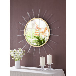 Atticus Gold Foil and Glass Rods Wall Mirror