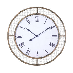 Grover Weathered Brown Wall Mounted Clock