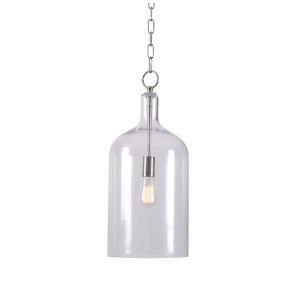 Capri Brushed Nickel One-Light Pendant