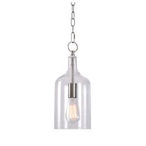Capri Brushed Nickel One-Light Mini Pendant