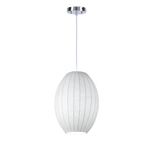 Covey White One-Light Pendant