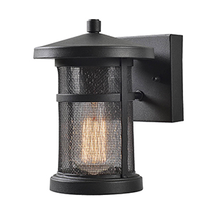 Carlson Black Mesh One-Light Small Wall Lantern