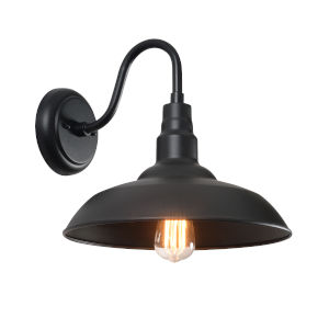 Dale Black One-Light Outdoor Wall Mount