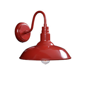 Dale Matte Red 14-Inch One-Light Outdoor Wall Mount