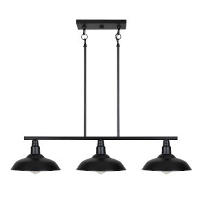 Dale Black Three-Light Island Pendant
