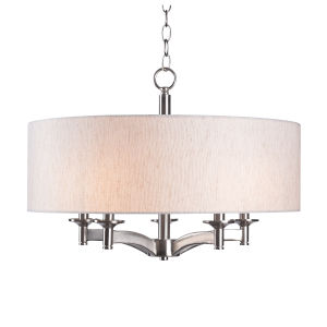 Rutherford Brushed Steel Five-Light Pendant