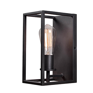 Cubed Graphite One-Light Wall Sconce