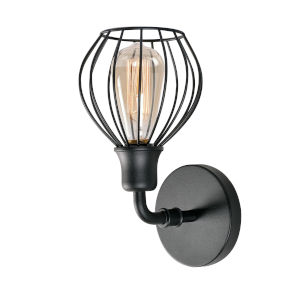 Cagney Black Wall Sconce