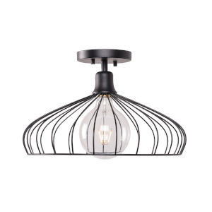 Cagney Black Semi-Flush Mount