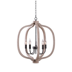 Sophia Weathered White Five-Light Chandelier