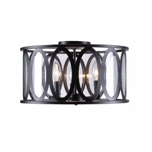 Prince Oil Rubbed Bronze Three-Light Flush Mount