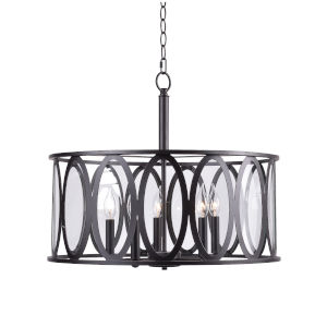 Prince Oil Rubbed Bronze Five-Light Pendant