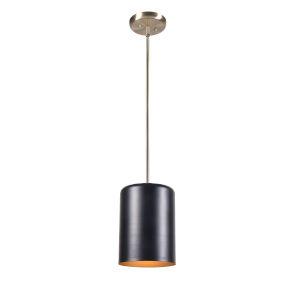 Porter Black and Antique Brass One-Light Mini Pendant