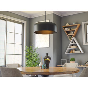 Porter Matte Black Two-Light Pendant