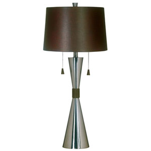 Bella Brushed Steel Table Lamp