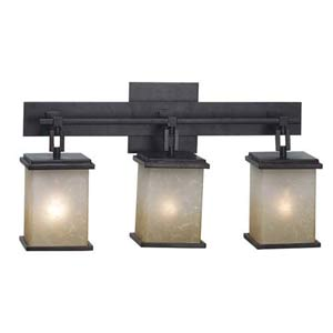 Plateau Oil Rubbed Bronze Three-Light Bath Fixture