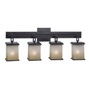 Plateau Oil Rubbed Bronze Four-Light Bath Fixture