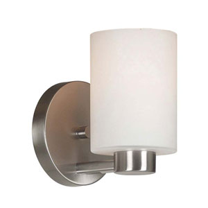 Encounters Brushed Steel One-Light Wall Sconce