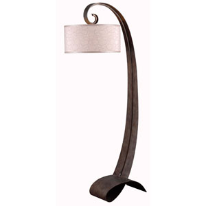 Remy Smoked Bronze One Light Floor Lamp