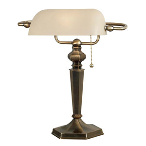 Mackinley Georgetown Bronze Banker Lamp