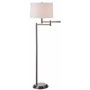 Theta Brushed Steel Floor Lamp