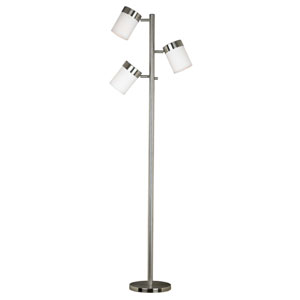 Roarke Brushed Steel Floor Lamp