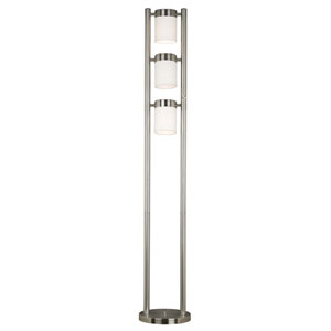Matinee Brushed Steel Floor Lamp