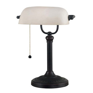 Amherst Oil Rubbed Bronze Banker Lamp