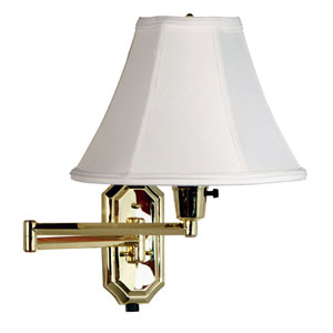 Nathaniel Polished Brass Swing Arm Lamp
