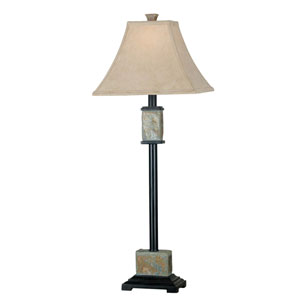 Bennington Natural Slate Buffet Lamp Two-Pack