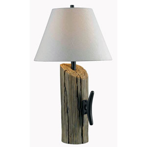 Cole Wood Grain Table Lamp