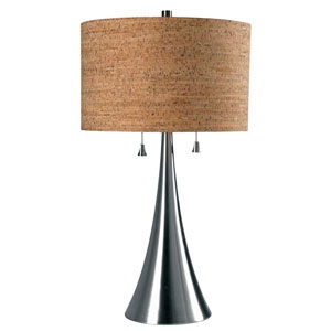 Reed Brushed Steel Table Lamp