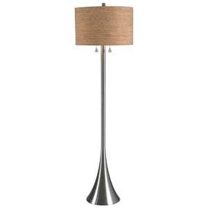 Reed Brushed Steel Floor Lamp