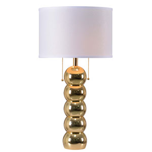 Bolero Gold Two-Light Table Lamp